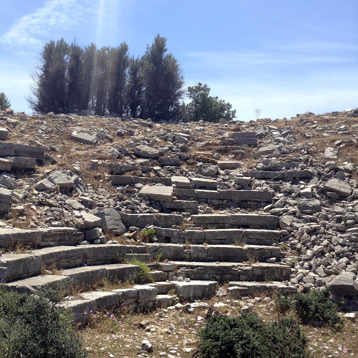 Amphitheater ruins in Amos
